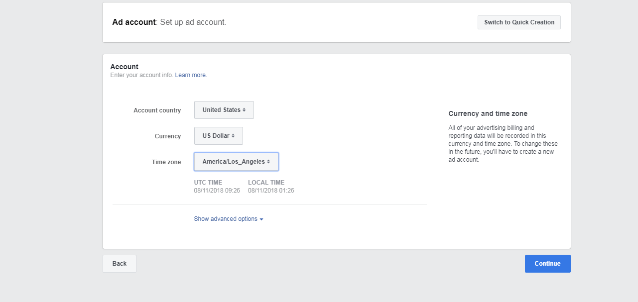Setup Facebook Ads Account